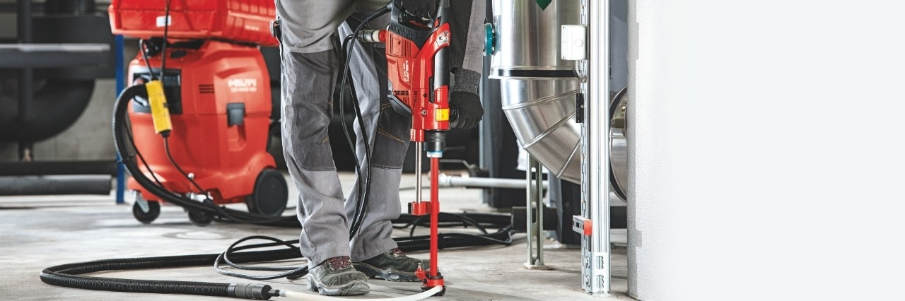 Hilti DD 30-W diamond drill for anchor and rebar applications